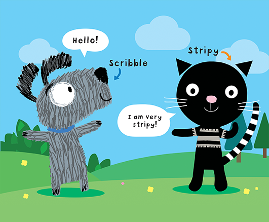 Scribble and Stripy